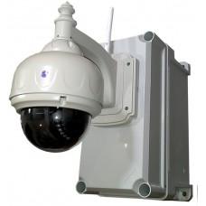 Уличная поворотная IP камера с охранно-пожарной сигнализацией, ИБП и SMS-управлением