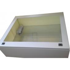 Термокожух с окном 1200х600х300 с обогревом и вентиляцией для монитора, телевизора