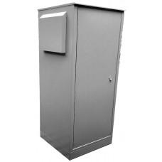 Антивандальный термошкаф 1600х800х600 34U уличный вандалостойкий термошкаф с отоплением и вентиляцией или кондиционером из оцинкованной стали