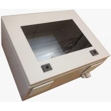 Термокожух с окном 600х400х250 с обогревом и вентиляцией для монитора