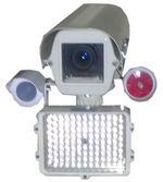 Камера видеонаблюдения с детектором пламени, ИК-прожектором, сиреной, в утепленном обогреваемом термокожухе
