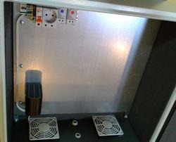 Термошкаф уличный стальной утепленный с обогревом и вентиляцией 500х500х300 мм