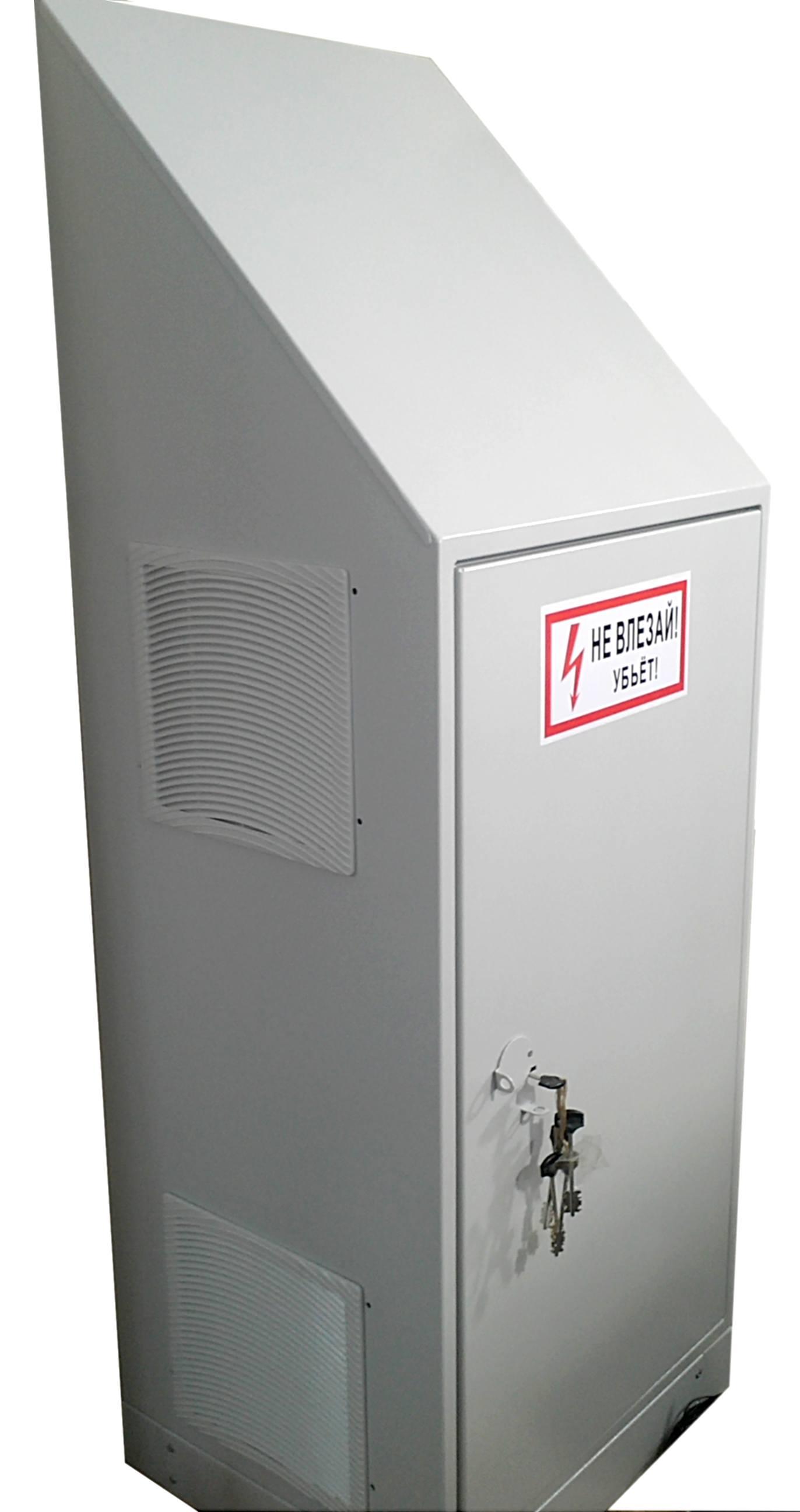 Антивандальный термошкаф для спец. объектов с мощной вентиляцией