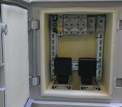 Пластиковый термошкаф с отоплением и вентиляцией