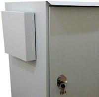 защитные кожухи решеток вентиляторов антивандального термошкафа (взломостойкого термосейфа)