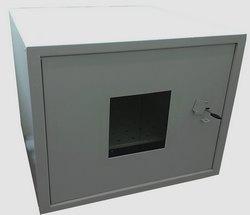 Антивандальный термошкаф 9U  с окном